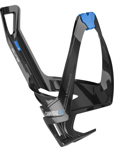 Elite Cannibal XC Flaschenhalter schwarz glänzend/blaue grafik